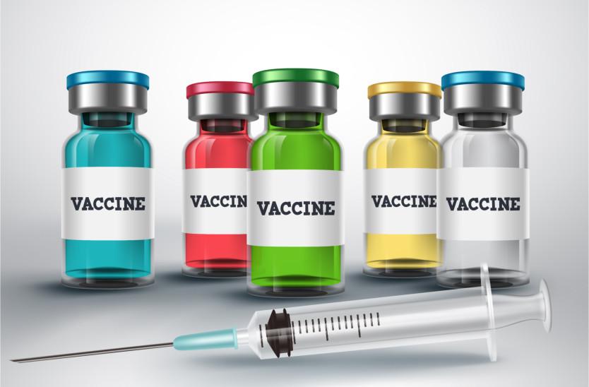 syringe and glass vial