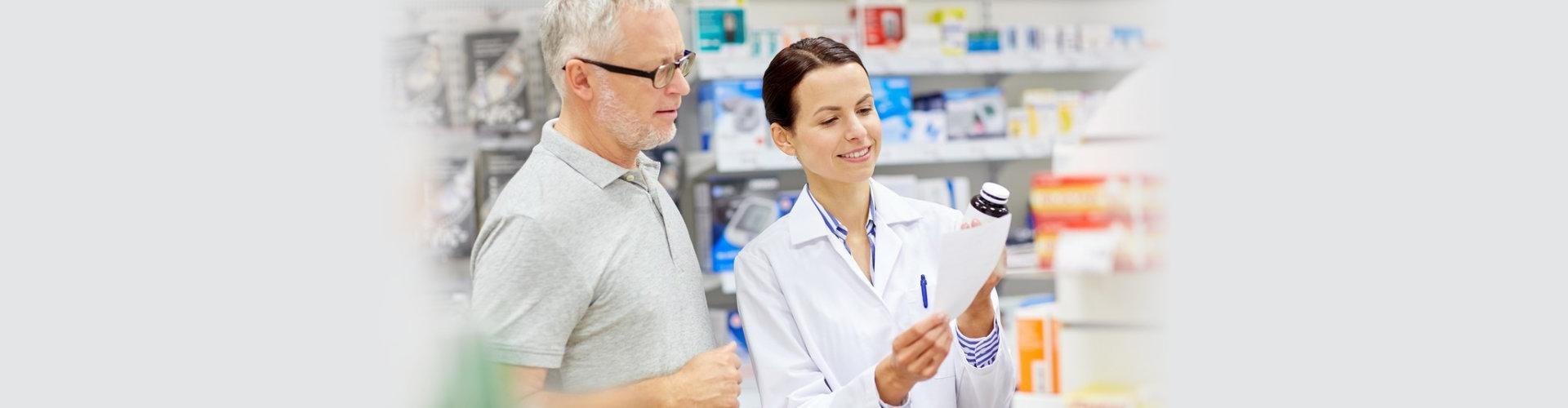 pharmacist and senior