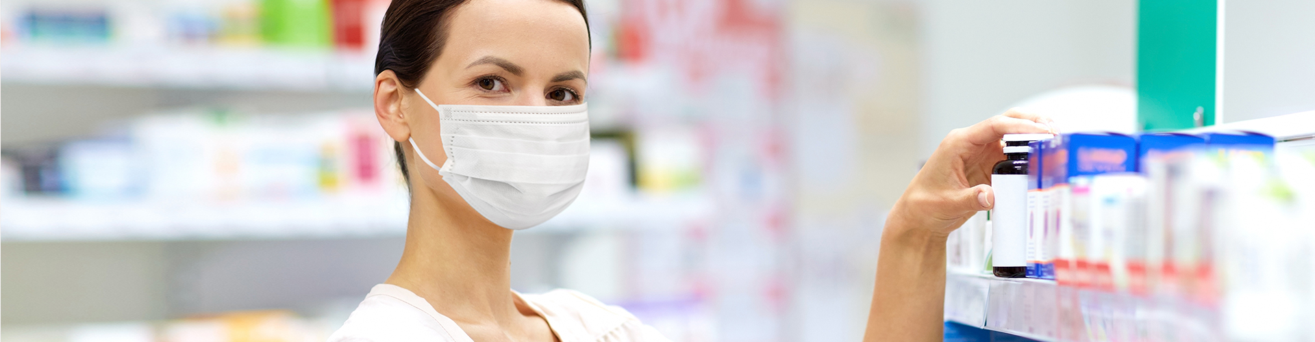 pharmacist with face mask